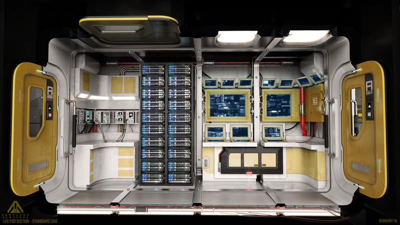 Das innere der Vanguard Sentinel